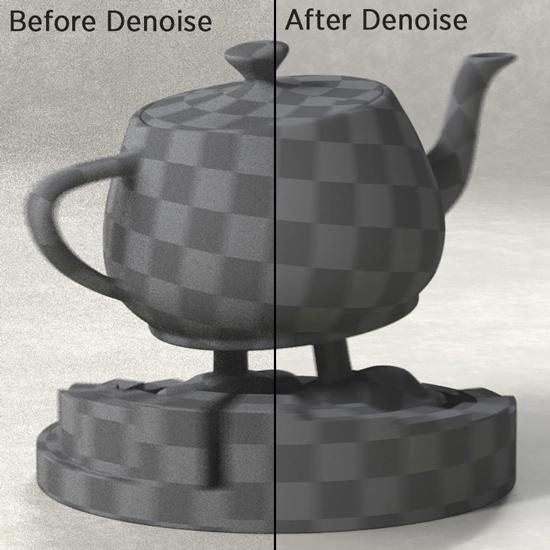 Denoise可以處理所有物件的motion blur, depth of field