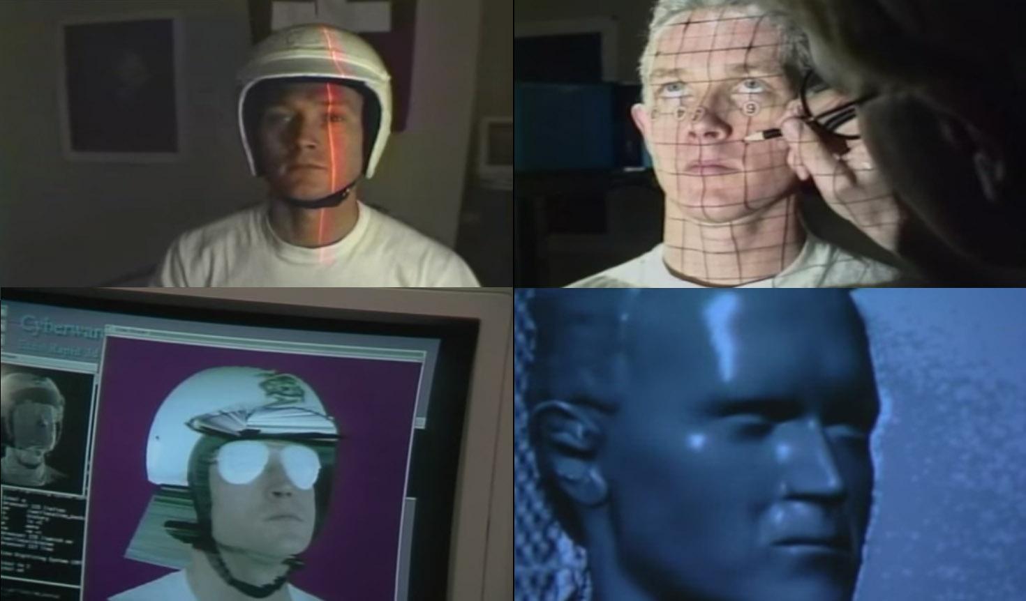 T1000的臉部模型透過掃描輸入軟體
